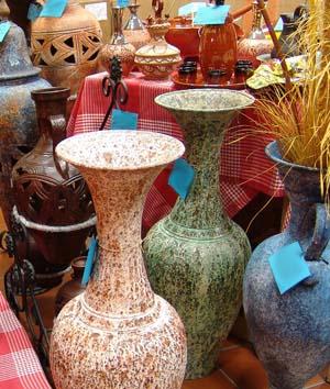 jarrones de suelo de varios colores